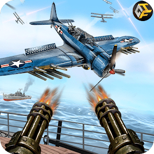 WW2 Naval Gunner Battle Air Strike: Free War Games